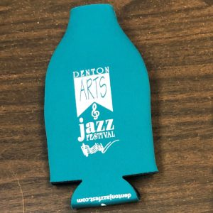 2020 Zippered Bottle Koozie in teal